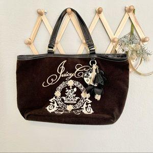 Juicy Couture Y2K Brown Velour Large Tote Bag